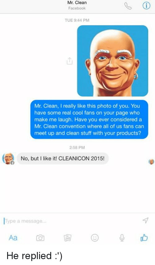 Mr Clean Facebook TUE 944 PM Mr Clean I Really Like This Photo of ...