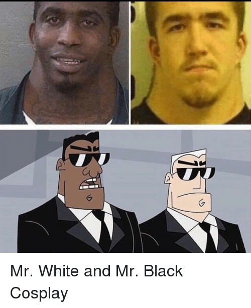 Black, Cosplay, and White: Mr. White and Mr. Black Cosplay