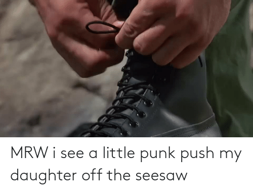 my daughter: MRW i see a little punk push my daughter off the seesaw