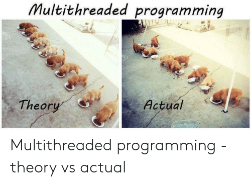 Theory: Multithreaded programming  Actual  Theory Multithreaded programming - theory vs actual