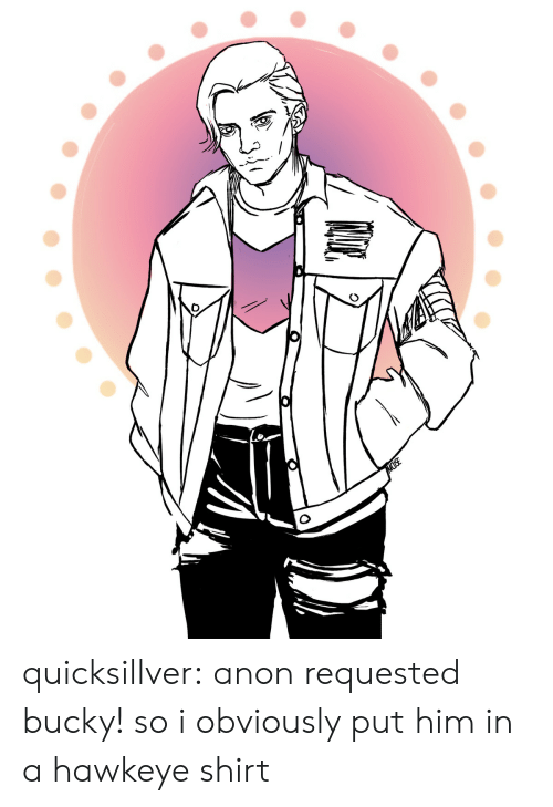 bucky: MUSE quicksillver: anon requested bucky! so i obviously put him in a hawkeye shirt