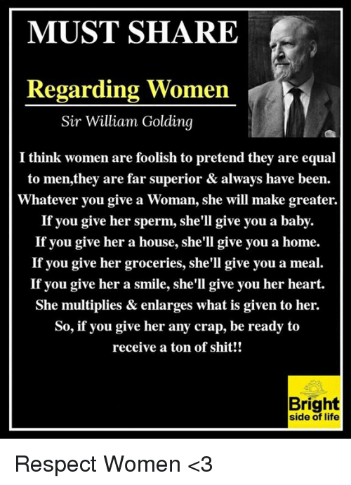 Whatever you give a woman she will make greater