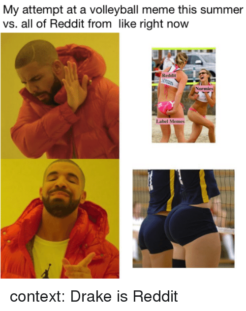 My Attempt At A Volleyball Meme This Summer Vs All Of Reddit From