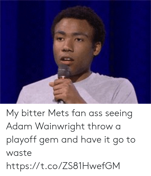 Mets, New York Knicks, and Adam Wainwright: My bitter Mets fan ass seeing Adam Wainwright throw a playoff gem and have it go to waste https://t.co/ZS81HwefGM