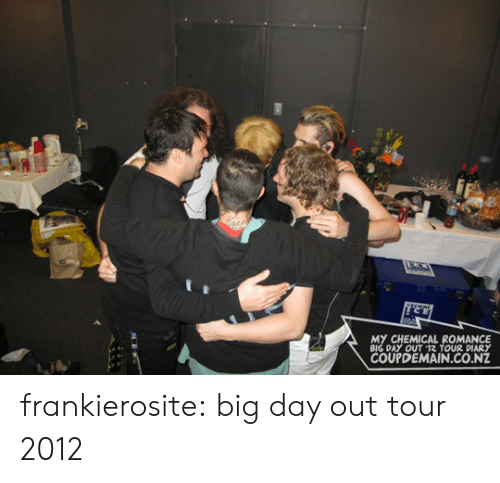 Tumblr, Blog, and Http: MY CHEMICAL ROMANCE  BIG DAY OUT 12 TOUR DIARY  COUPDEMAIN.CO.NZ frankierosite:   big day out tour 2012