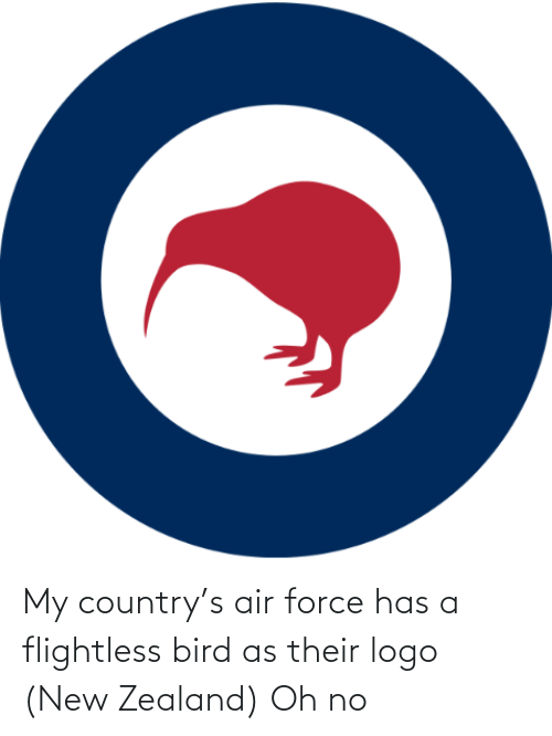 country: My country's air force has a flightless bird as their logo (New Zealand) Oh no