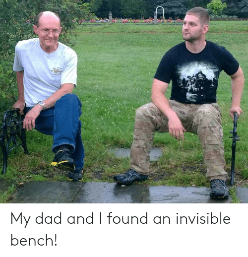 bench: My dad and I found an invisible bench!