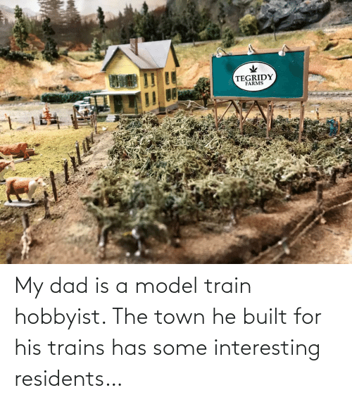 Built: My dad is a model train hobbyist. The town he built for his trains has some interesting residents…