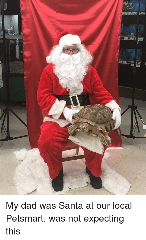 Petsmart: My dad was Santa at our local Petsmart, was not expecting this