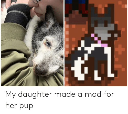 my daughter: My daughter made a mod for her pup