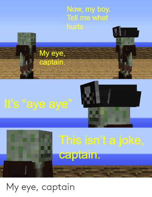 Eye,  Captain, and My Eye: My eye, captain