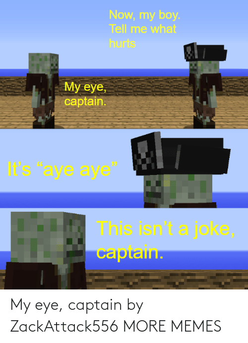 eye: My eye, captain by ZackAttack556 MORE MEMES