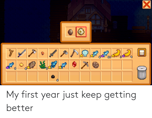 Getting Better: My first year just keep getting better