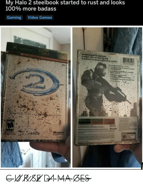 Halo, Video Games, and Games: My Halo 2 steelbook started to rust and looks  100% more badass  Gaming Video Games  XxeOX  ISTO  e has fgt  MT  ART  Microso C̶ ̵U̸ ̸R̸ ̷S̸E̷ ̸D̵ ̶I̸ ̵M̶A̴ ̵G̸E̶S̶ ̴