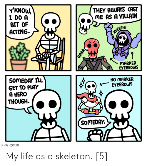 skeleton: My life as a skeleton. [5]