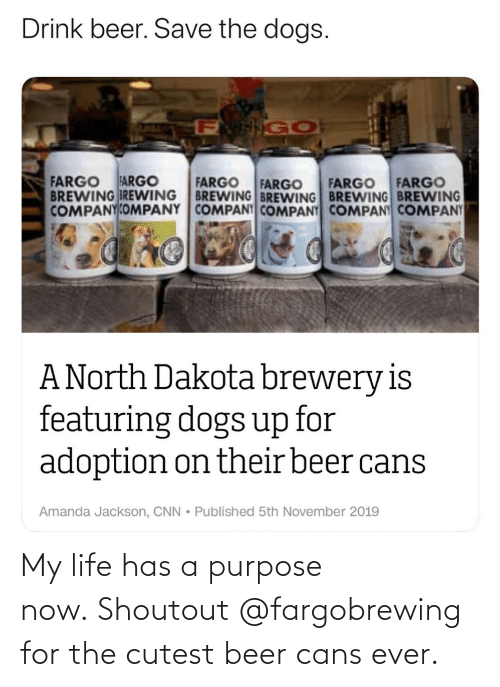Cans: My life has a purpose now. Shoutout @fargobrewing for the cutest beer cans ever.