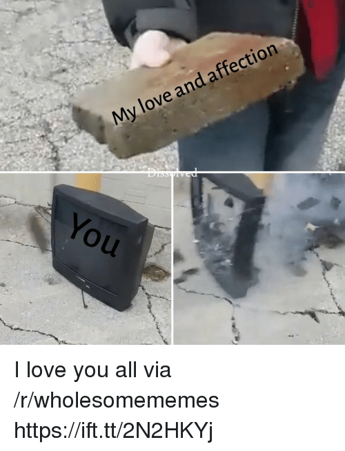 Love, I Love You, and Via: My love and affection  You I love you all via /r/wholesomememes https://ift.tt/2N2HKYj