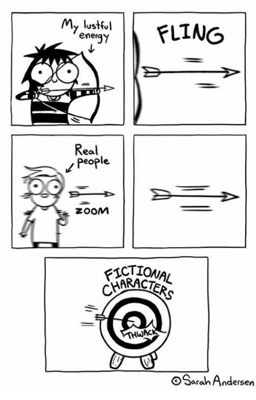 Memes, Zoom, and 🤖: My lustful  ener  gy  Real  People  zooM  FICTT  KRACTERS  TIONAL  WAC  OSarah Andersen