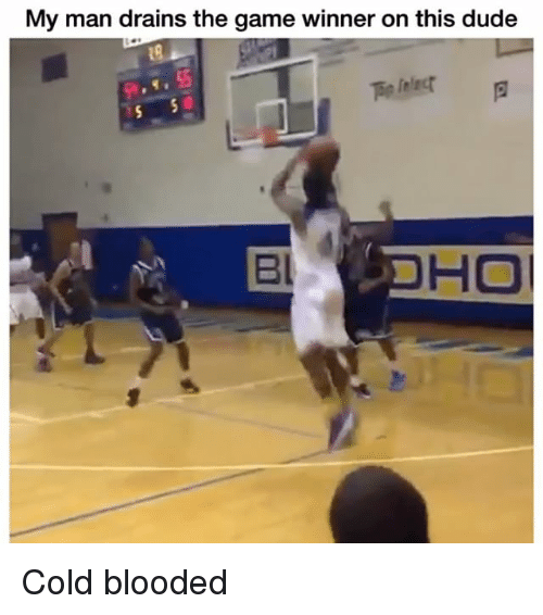 Game Winner: My man drains the game winner on this dude  Bl Cold blooded