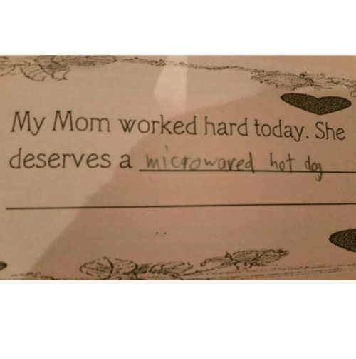 Today, Mom, and She: My Mom worked hard today. She  deserves a mIctowared hat d