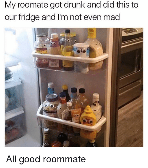 Drunked: My roomate got drunk and did this to  our fridge and I'm not even mad All good roommate