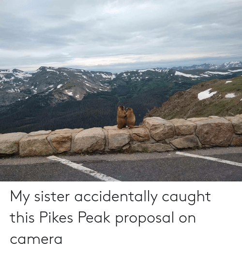proposal: My sister accidentally caught this Pikes Peak proposal on camera