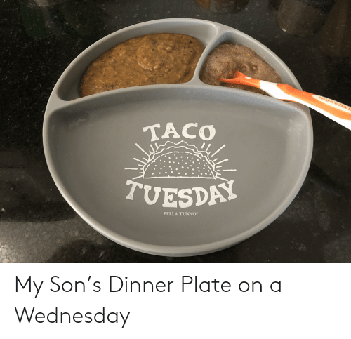 Wednesday: My Son's Dinner Plate on a Wednesday