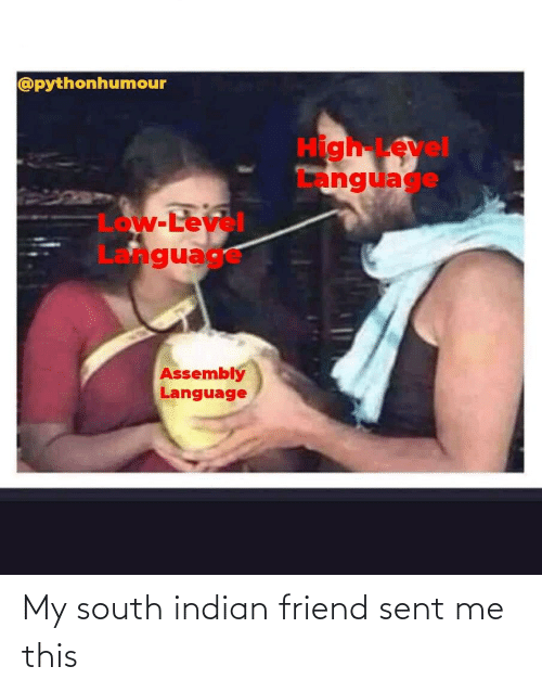 Indian: My south indian friend sent me this
