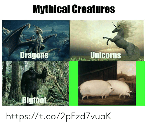 Bigfoot, Dragons, and Creatures: Mythical Creatures  Unicorns  Dragons  Bigfoot https://t.co/2pEzd7vuaK