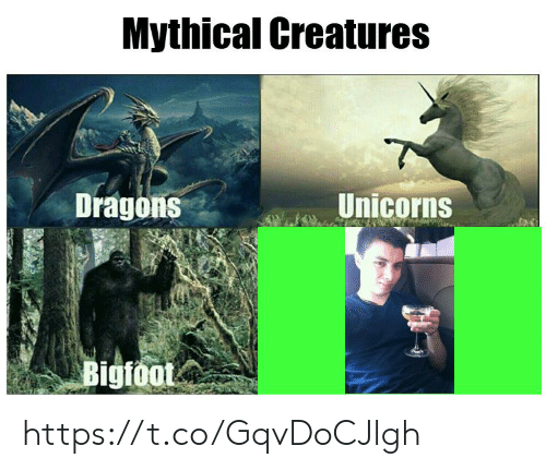 Bigfoot, Dragons, and Creatures: Mythical Creatures  Unicorns  Dragons  Bigfoot https://t.co/GqvDoCJlgh
