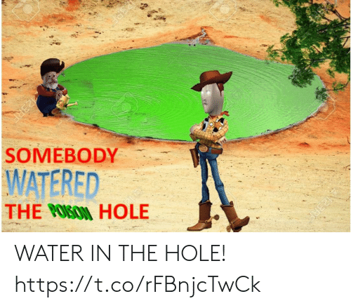 Watered: N23RE  23RE  WATERED  THE OSON HOLE  SOMEBODY  PERA WATER IN THE HOLE! https://t.co/rFBnjcTwCk