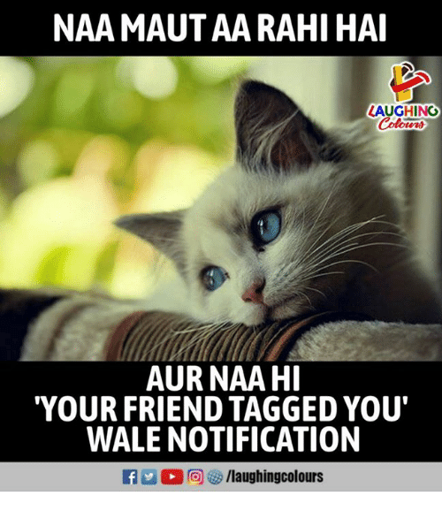Tagged, Wale, and Indianpeoplefacebook: NAA MAUT AA RAHI HAI  LAUGHING  oters  AUR NAA HI  YOUR FRIEND TAGGED YOU'  WALE NOTIFICATION