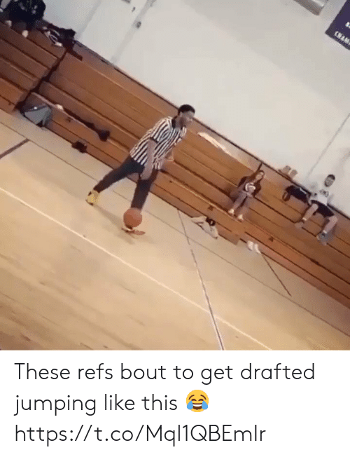 Memes, 🤖, and Nam: (NAM These refs bout to get drafted jumping like this 😂 https://t.co/Mql1QBEmIr