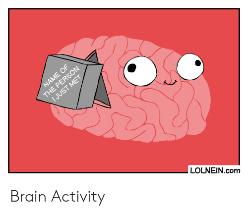 Brain, Com, and Name: NAME OF  THE PERSON  I JUST MET  LOLNEIN.com Brain Activity