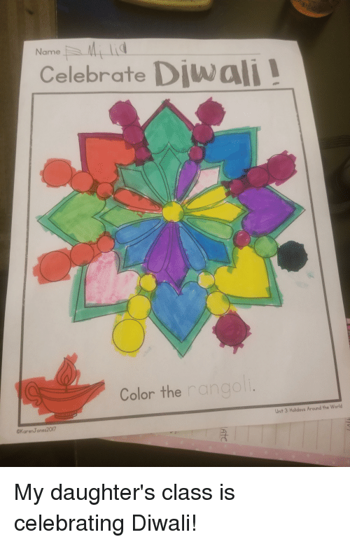 The Office, World, and Diwali: Named  Celebrate Diwali  Color the rangol  Unit 3: Holidays Around the World  CKarenJones2017