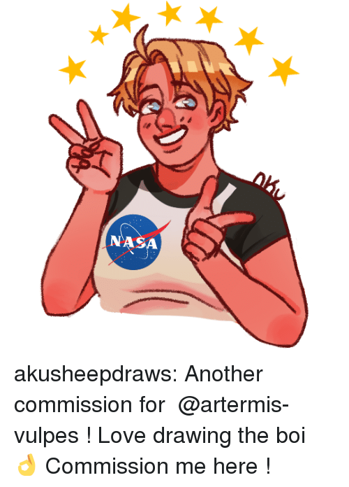 artemis: NASA akusheepdraws:  Another commission for @artermis-vulpes !Love drawing the boi   👌  Commission me here !