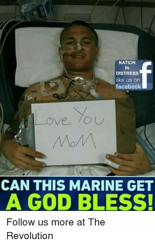 Distression: NATION  IN  DISTRESS  like us on  facebook  CAN THIS MARINE GET  A GOD BLESS! Follow us more at The Revolution