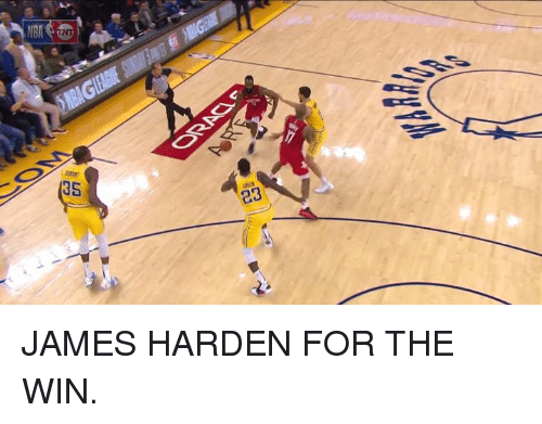James Harden, James, and For: NBAG  (35  23 JAMES HARDEN FOR THE WIN.