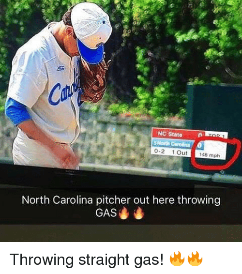 Mlb, North Carolina, and Carolina: NC StateTn  0-2 1Out 148 mph  North Carolina pitcher out here throwing  GAS Throwing straight gas! 🔥🔥
