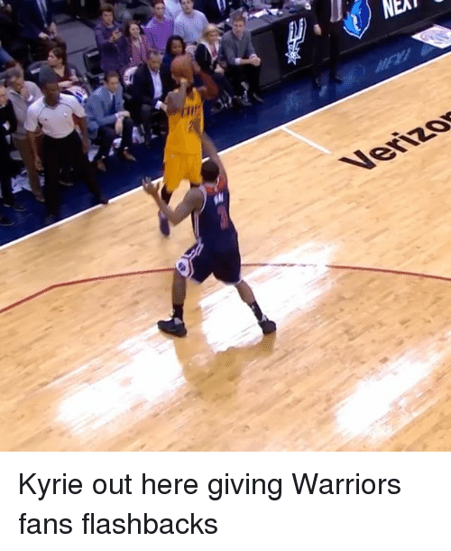warriors fans: NEAT  Venzy Kyrie out here giving Warriors fans flashbacks