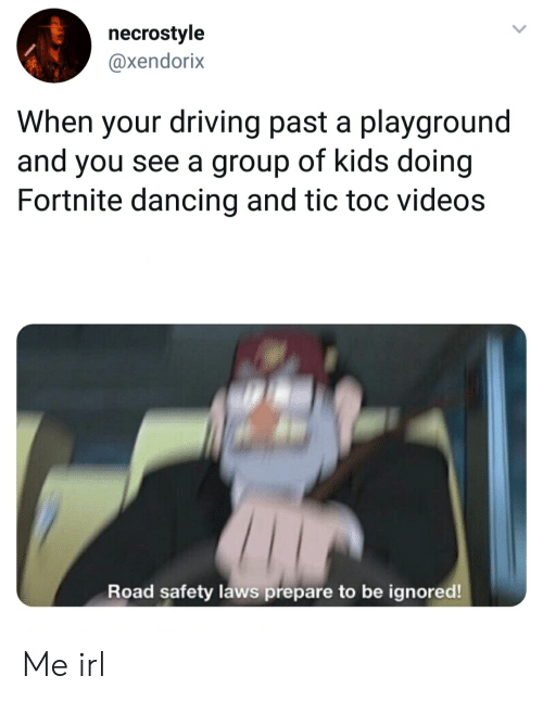 Necrostyle When Your Driving Past a Playground and You See a Group