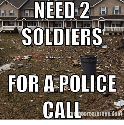 cort: NEED 2  SOLDIERS  FOR A POLICE  CALL  ecreatorapp CORT