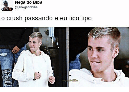 Crush, Fico, and Biba: Nega do Biba  @anegadobiba  o crush passando e eu fico tipo  neg
