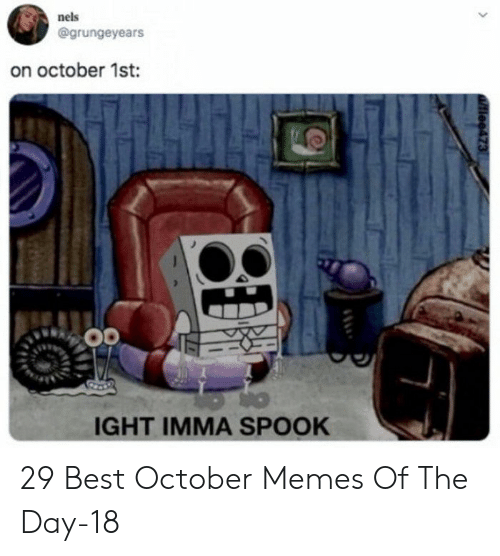 ight: nels  @grungeyears  on october 1st:  IGHT IMMA SPOOK  tiee473 29 Best October Memes Of The Day-18