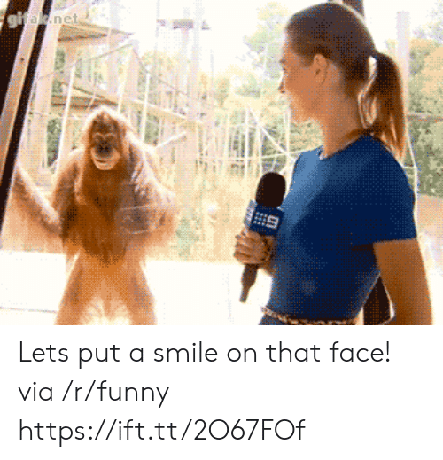 Funny, Smile, and Net: net Lets put a smile on that face! via /r/funny https://ift.tt/2O67FOf