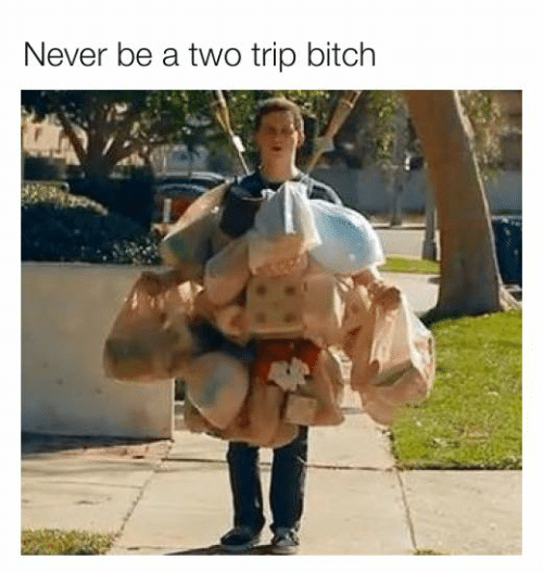 Bitch, Dank, and Never: Never be a two trip bitch