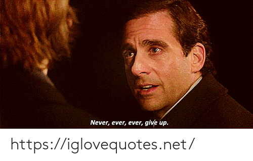 give up: Never, ever, ever, give up. https://iglovequotes.net/