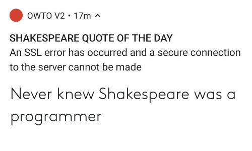 Shakespeare: Never knew Shakespeare was a programmer
