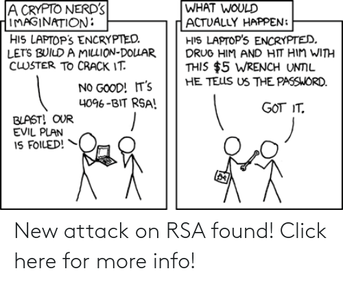 Found: New attack on RSA found! Click here for more info!