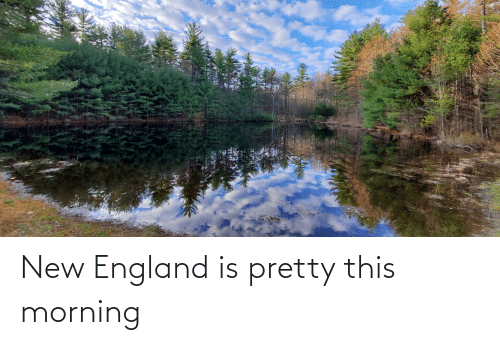 new england: New England is pretty this morning